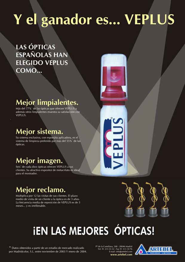 Anuncio 2004 VEPLUS - Limpia lentes, Limpiagafas, Limpia anteojos