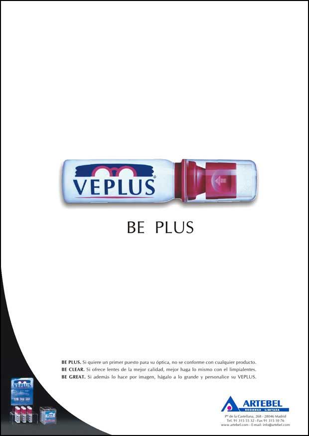 Anuncio 2005 VEPLUS - Limpia lentes, Limpiagafas, Limpia anteojos