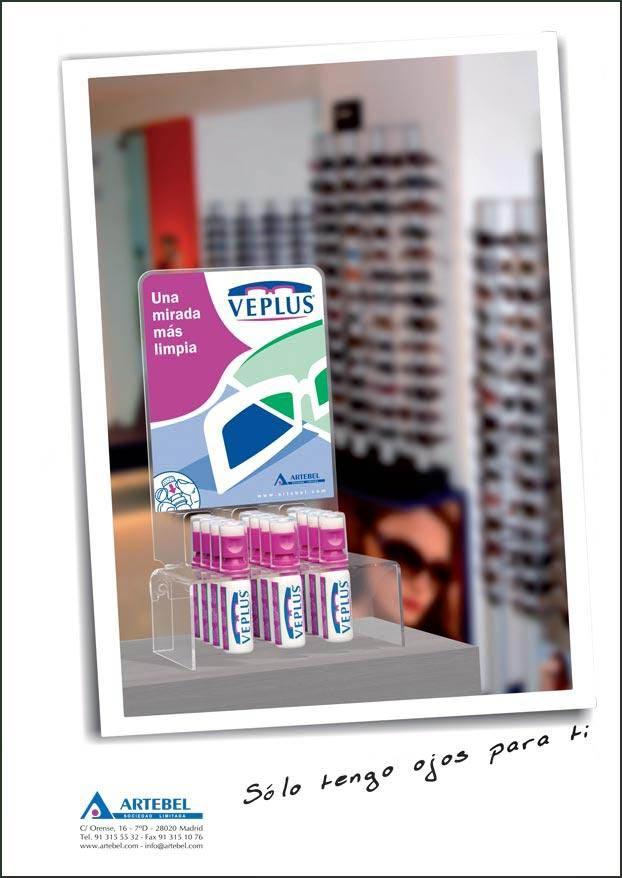 Anuncio 2012 VEPLUS - Limpia lentes, Limpiagafas, Limpia anteojos