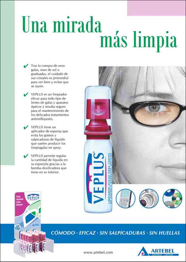 2009 VEPLUS eyeglass cleaner advertisement